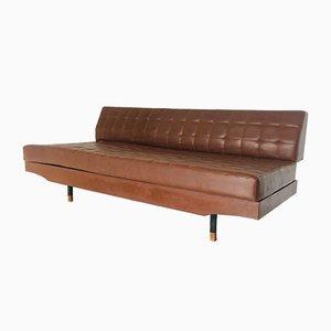 Sofá cama italiano vintage, años 70