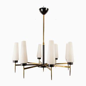 Lámpara de araña francesa Mid-Century, años 60