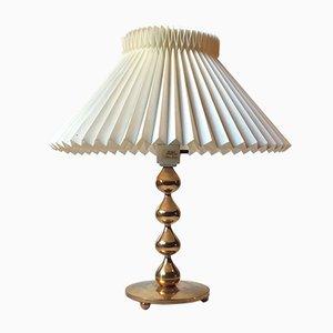 Lámpara de mesa dorada de Hugo Asmussen para Asmussen, años 70