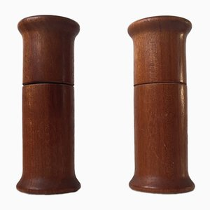 Vintage Danish Salt & Pepper Mills in Teak by Nordsted, 1960s, Set of 2