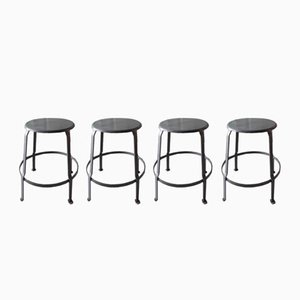 Vintage Factory Stools, 1950s, Set of 4