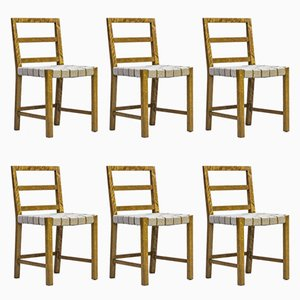 Model 104 Dining Chairs by Uno Åhren for Gemla Möbler, 1930s, Set of 6
