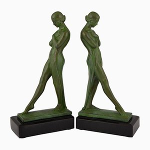 Bookends by Pierre le Faguays for Max le Verrier, 1930s, Set of 2