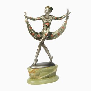 Art Deco Skulptur aus Bronze & Onyx von Josef Lorenzl, 1930er