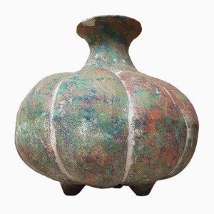 Vase en Ciment Vintage en Forme de Citrouille