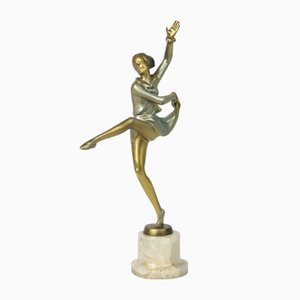 Figurine Art Déco en Bronze par Josef Lorenzl, 1930s