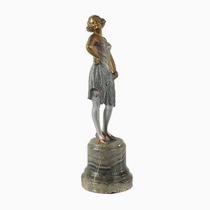 Österreichische Figur aus Bronze von Bruno Zach, 1920er