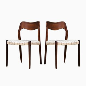 Vintage Rosewood Chairs by N. O. Møller for Farstrup, Set of 2
