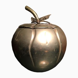 Vintage Metal Pumpkin Shaped Ice Bucket