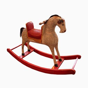Vintage Rocking Horse from Mühlhauser Sport Wien, 1950s