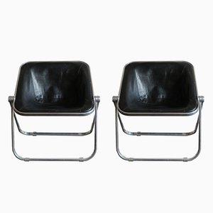 Plona Lounge Chairs by Giancarlo Piretti for Anonima Castelli, 1960s, Set of 2
