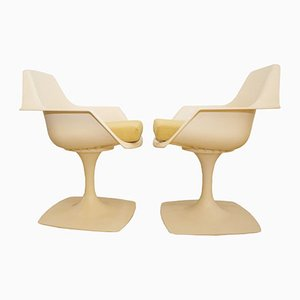 French Swivel Armchairs from Stamp Nurieux, 1970s, Set of 2