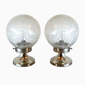 Lampade da tavolo in vetro di Murano, Italia, anni '70 di Mazzega, set di 2