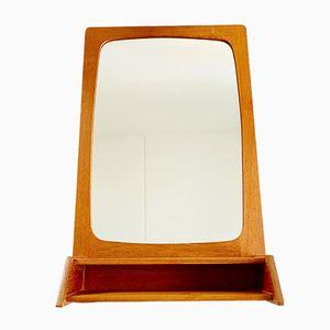 Specchio vintage con cornice in teak, anni '60