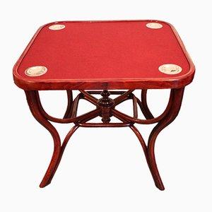 Tavolo da gioco nr. 5 Art Nouveau di Michael Thonet, inizio XX secolo