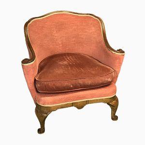 Chippendale Armlehnstuhl aus Nussholz, 1930er