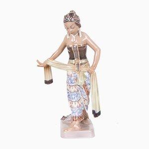 Statuetta di danzatrice nr. 1114 vintage di Dahl Jensen
