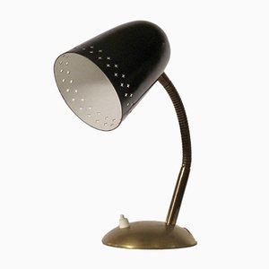 Lámpara de mesa o escritorio de metal, años 50