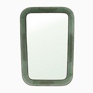 Italienischer Spiegel aus Lochblech & Messing, 1950er