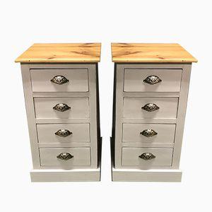 Vintage Fir Cabinets, Set of 2