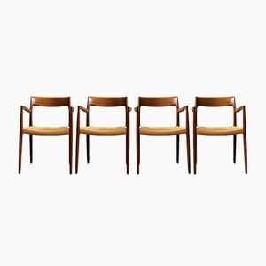 Mid-Century Danish 57 Teak Chairs par Niels O. Møller pour J.L. Møllers, Set de 4