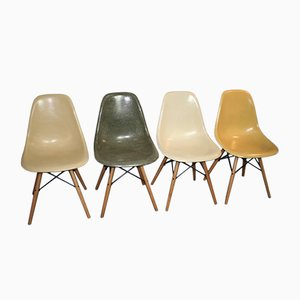 DSW Fiber Chairs by Charles & Ray Eames for Herman Miller, Set of 4