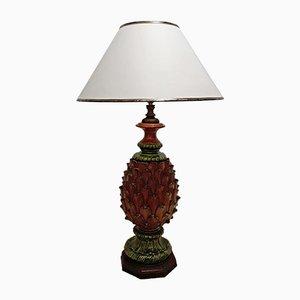 Lámpara de mesa vintage en forma de piña