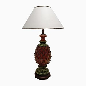 Vintage Tischlampe in Ananas-Optik