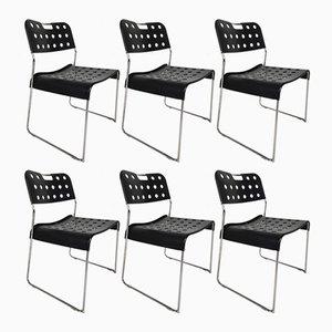 Schwarze Omstak Stühle von Rodney Kinsman für OMK, 1970er, 6er Set