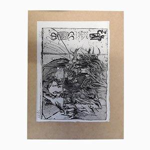 Gravure à l'Eau-Forte Autoportrait par Horst Janssen, 1980