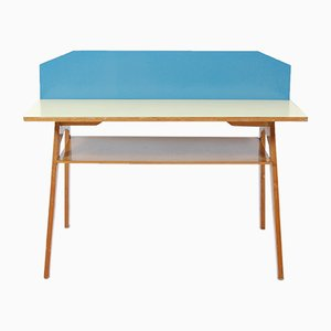 Bicolored Double Desk with Formica, 1950s