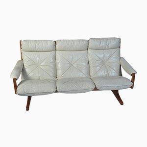 Sofá danés vintage de cuero
