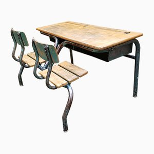 Double School Bench, 1950s