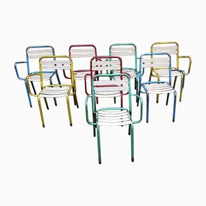 Vintage T3 Chairs from Tolix, Set of 8