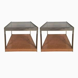 Oak Side Tables by Richard Young for Merrow Associates, 1970s, Set of 2