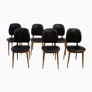Stühle von Pierre Guariche, 1950er, 6er Set