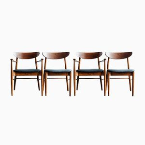 Dänische Mid-Century Stühle, 4er Set