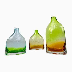 Swedish Handmade Glass Carafes, 1970s, Set of 3