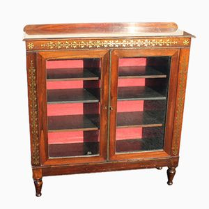 Mahogany Cabinet with Brass Inlay, 1920s