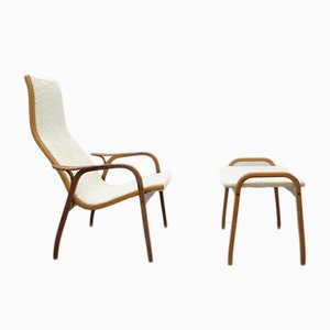 Vintage Lamino Lounge Chair with Ottoman by Yngve Ekström for Swedese
