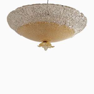 Mid-Century Murano Glass Flushmount by Gino Vistosi