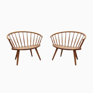 Arka Armchairs by Yngve Ekström for Stolab Sweden, 1950s, Set of 2