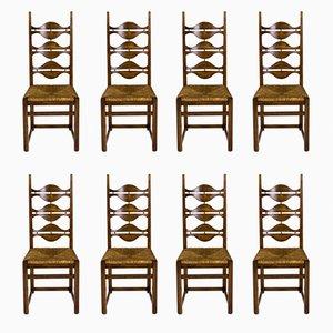 Esszimmerstühle von Jordi Vilanova, 1950er, 8er Set
