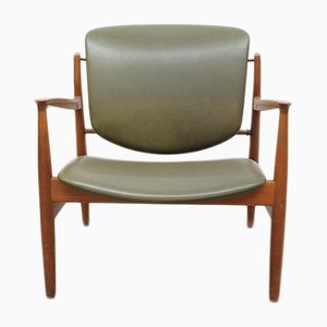 Teak Modell 136 Lounge Chair by Finn Juhl for France & Søn, 1950s