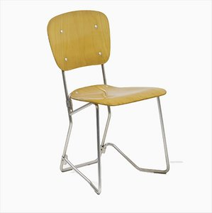 Vintage Aluflex Stacking Chair by Armin Wirth for Ph. Zieringer K.G.