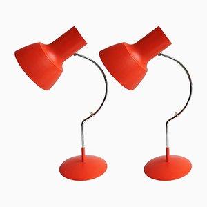 Lámparas de escritorio vintage de Josef Hurka para Napako. Juego de 2