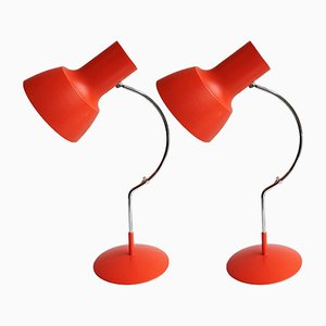 Vintage Desk Lamps by Josef Hurka for Napako, Set of 2