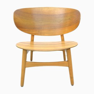 Vintage Walnut Shell Chair Fritz by Hans J. Wegner for Fritz Hansen