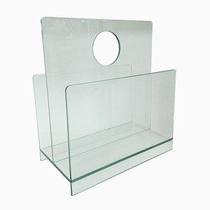 Revistero italiano de vidrio, años 80