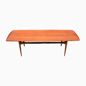 FD503 Teak Coffee Table by Tove & Edvard Kindt-Larsen for France & Daverkosen, 1950s
